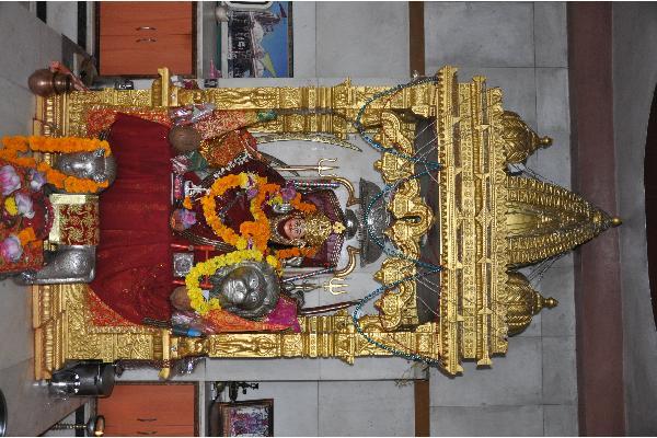 Inner Decoration Of Temple On Navaratri